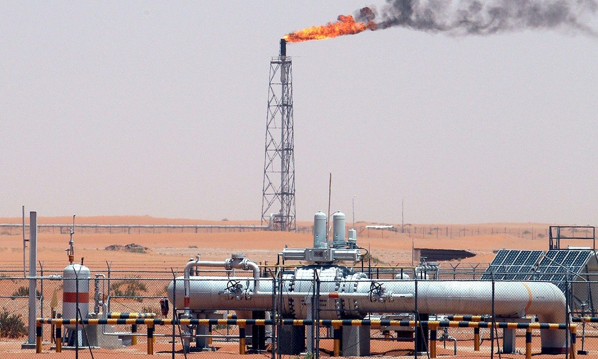 Khurais oil field in Saudi Arabia