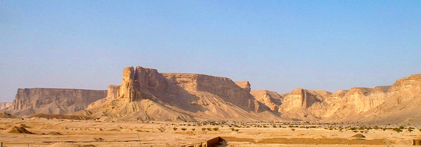 Nejd landscape with the Tuwaiq Escarpment in Saudi Arabia