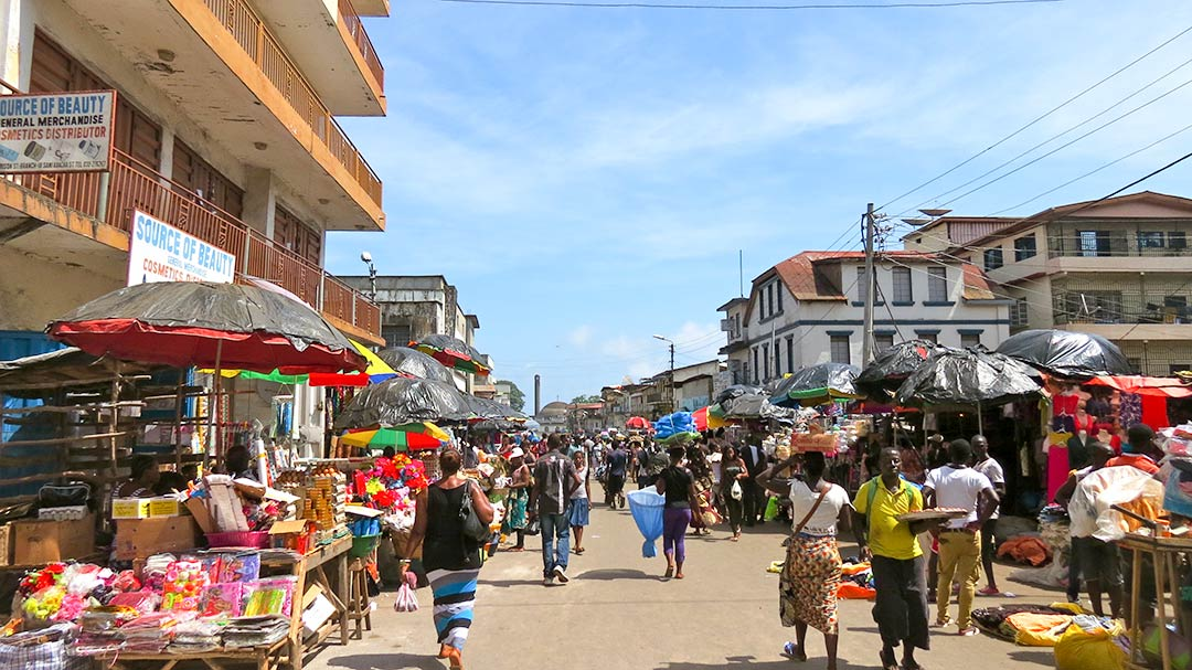 Street scene in Freetown, Sierra Leone