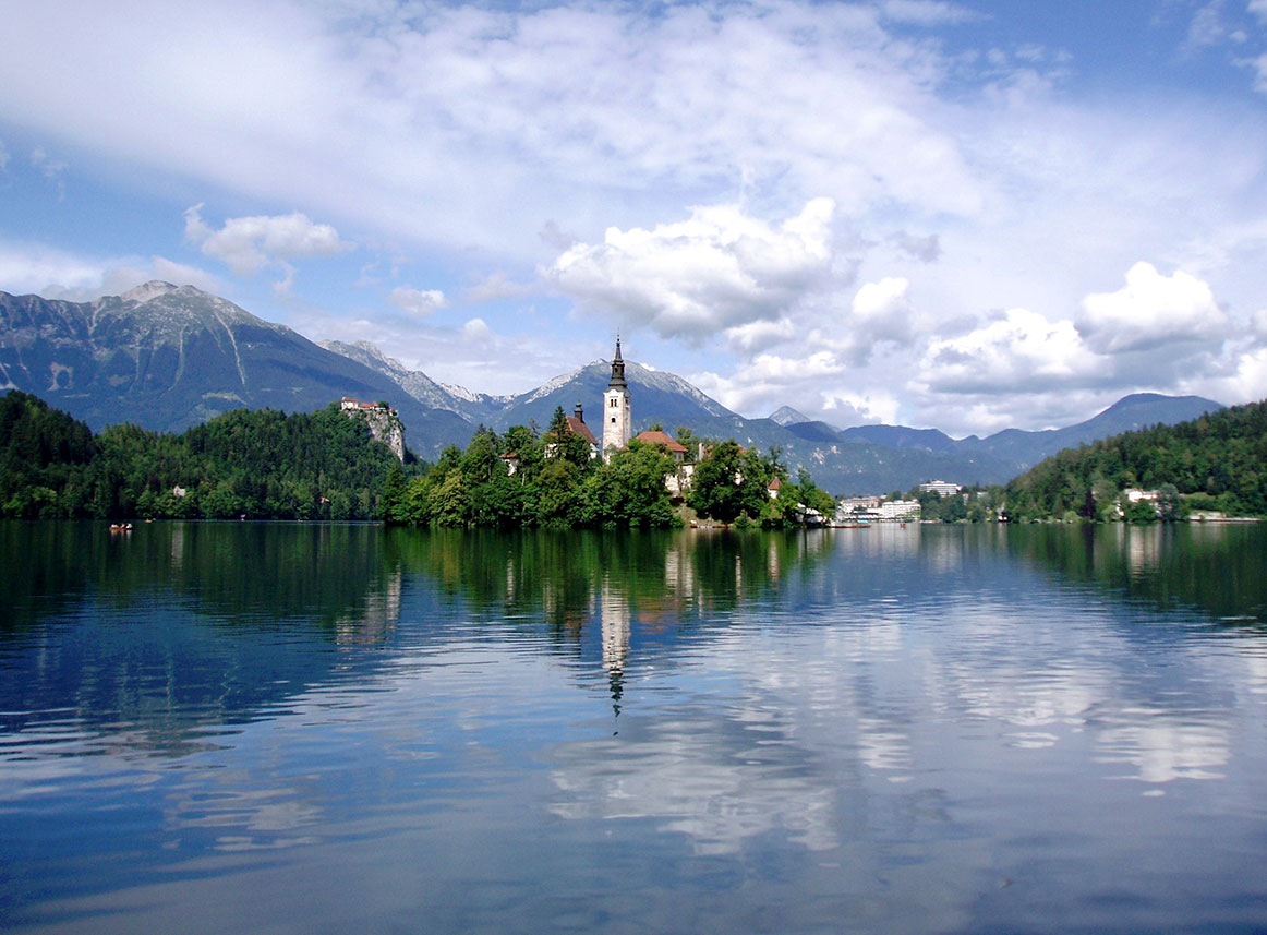 Lake Bled in the Julian Alps, Slovenia