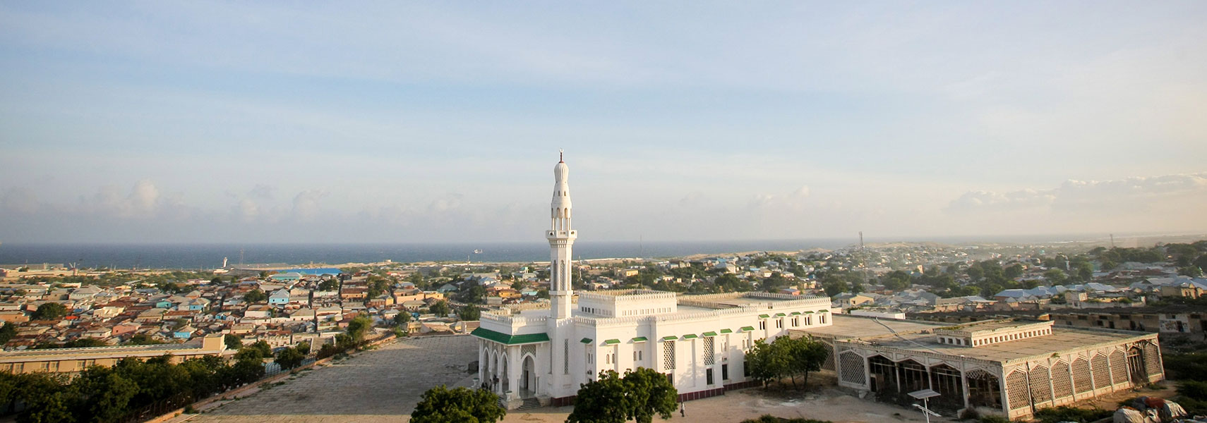 Mosque opposite the parliament building in Mogadishu