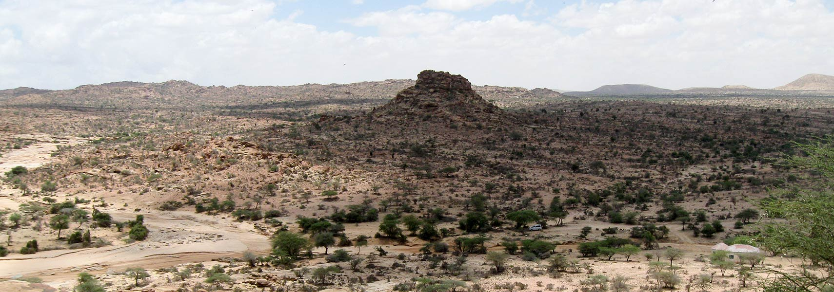 Landscape in northern Somalia