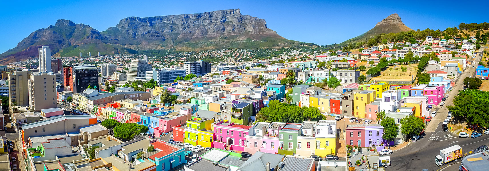 The Bo-Kaap area of Cape Town, South Africa