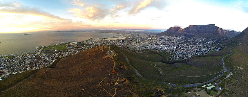 Panorama of the Cape Town's City Bowl, Cape Peninsula, South Africa