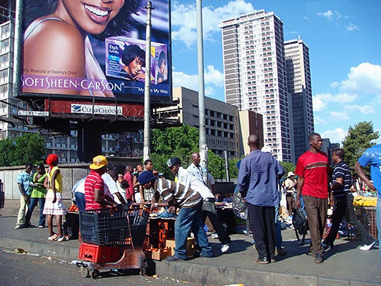 Street scene in Downtown Johannesburg, South Africa