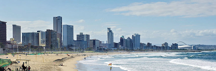 south africa map durban google
