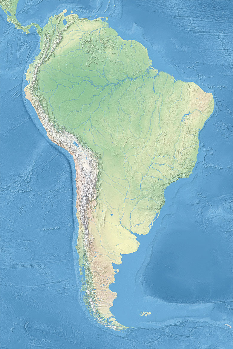 Political Map of South America (1200 px)   Nations Online Project
