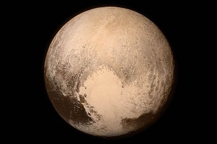 A view of Pluto from NASA New Horizons spacecraftPluto Flyby Solar System Exploration mission