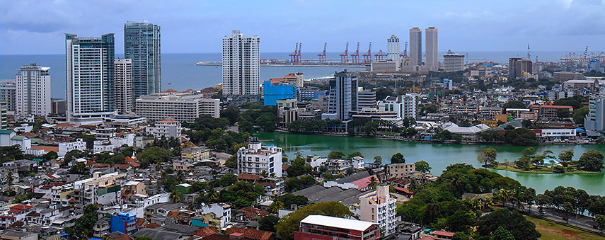 Google map of colombo sri lanka nations online project central colombo with beira lake in the distance the world trade center twin towers the tallest completed building in sri lanka 152 m 499 ft gumiabroncs Gallery