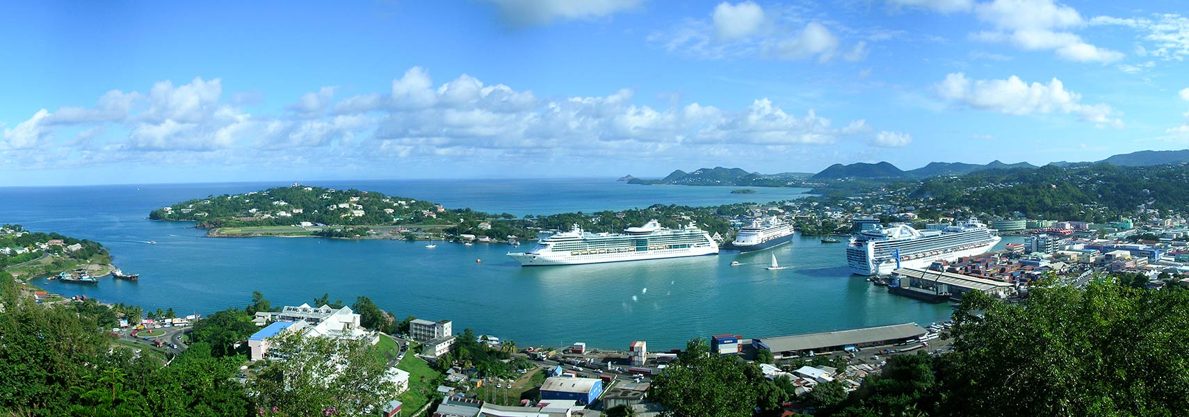 Google Map Of Castries Saint Lucia Nations Online Project - Saint lucia map