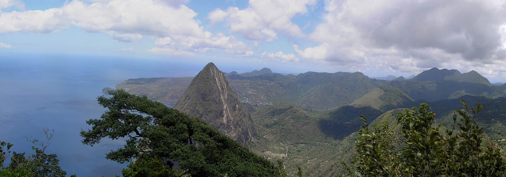 View from the top of Gros Piton, looking north, Saint Lucia