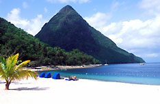 Saint Lucia Beach and Pitons