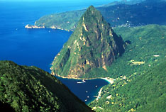 Aerial view of Saint Lucia