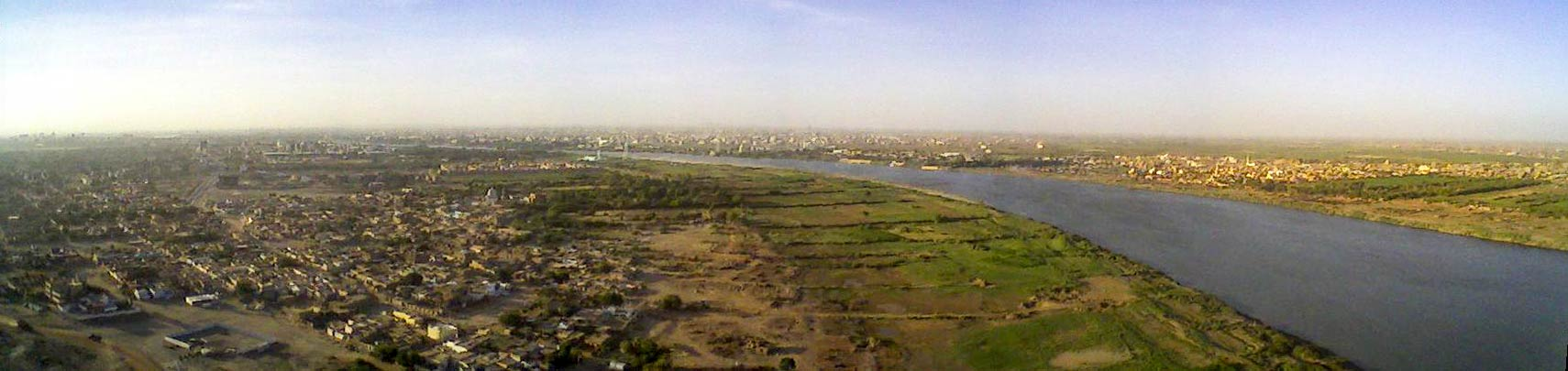 Panorama of Karthoum at the river Nile