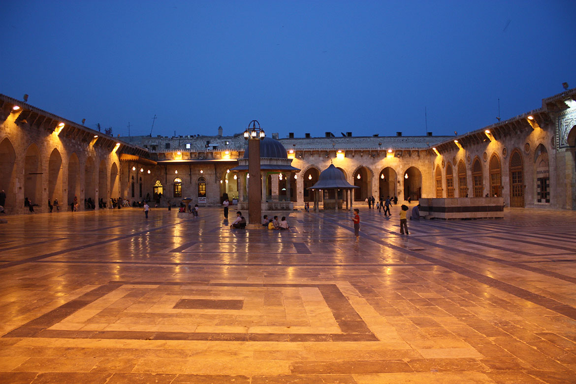 Great Umayyad Mosque of Aleppo in 2009