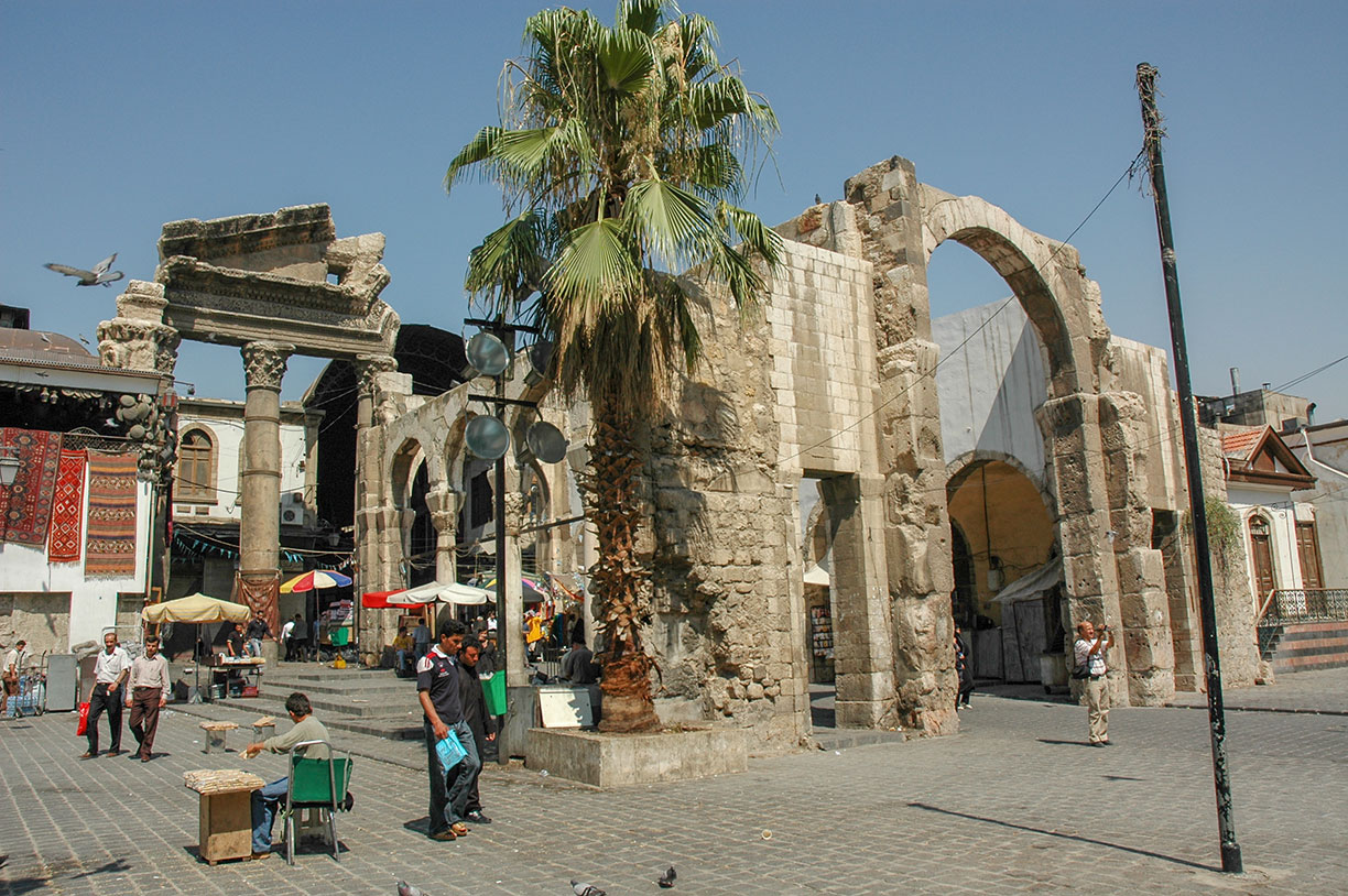 Temple of Jupiter in Damascus, Syria