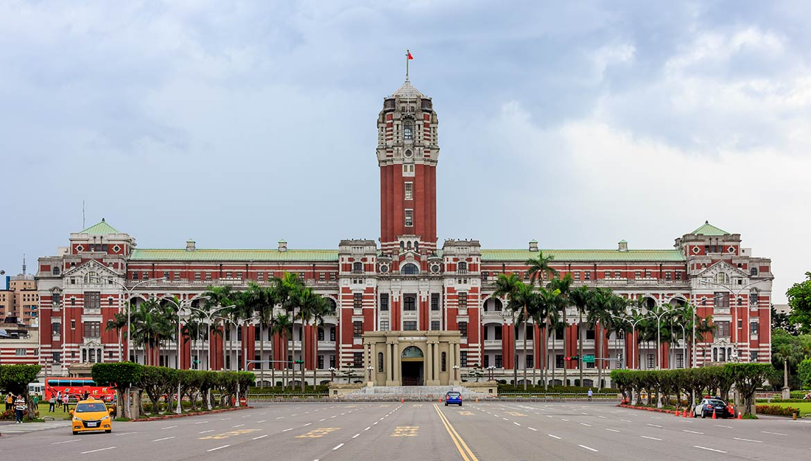 Taiwan Presidential Office Building in Taipei