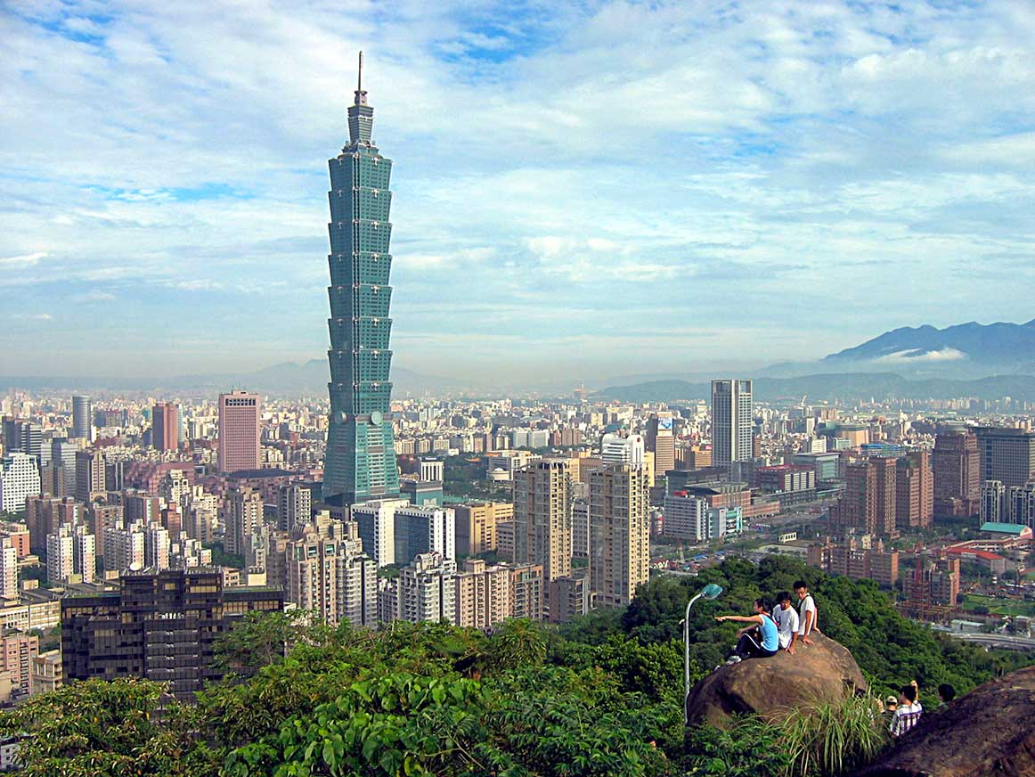 Taipei and Taipei 101 skyscraper, Xinyi District, Taipei