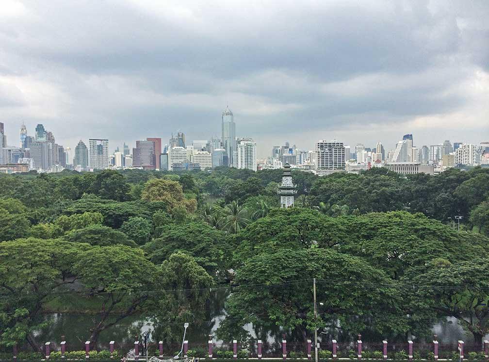 Google map bangkok thailand nations online project bangkok skyline behind lumpini park gumiabroncs Images