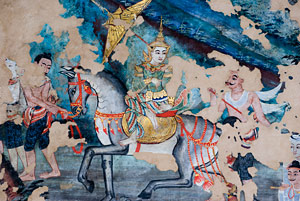 Mural painting in a temple in Chiang Mai