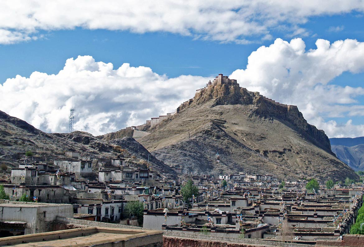 Old Gyantse and the Gyantse Dzong, Tibet, China