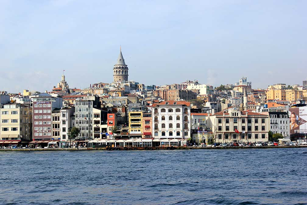 Galata/Karaköy quarter of Istanbul with Galata Tower