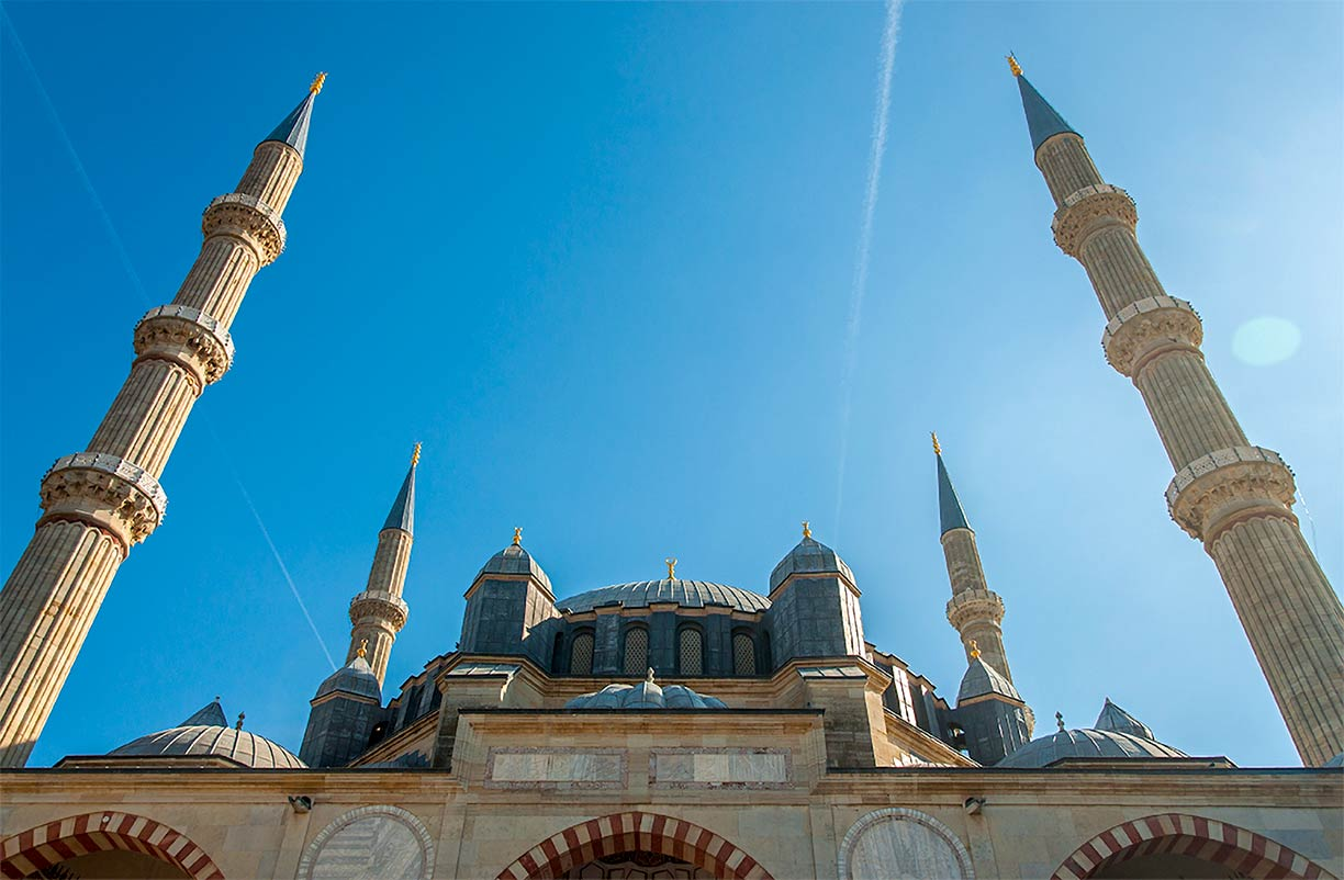 Selimiye Mosque in the city of Edirne, Turkey