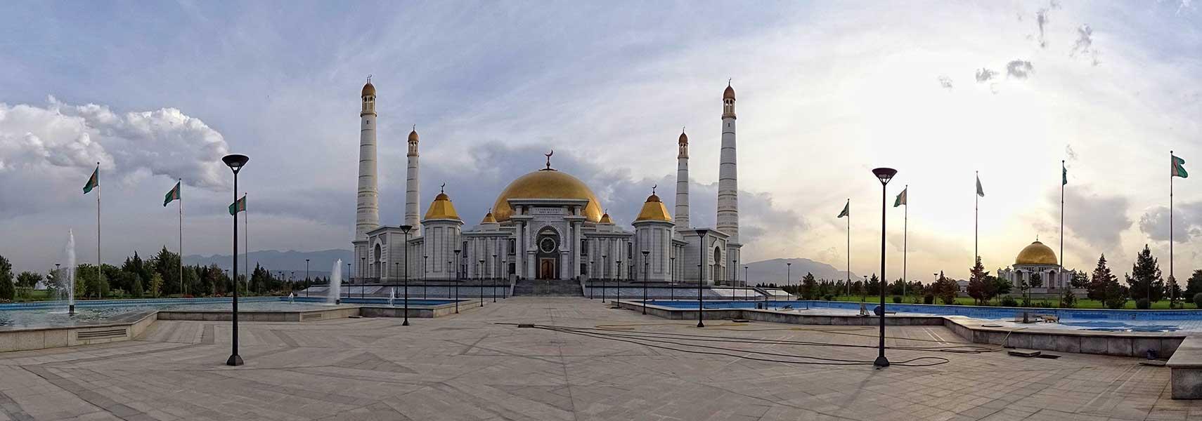 Turkmenbashi Ruhy Mosque Gypjak Mosque and Niyazov