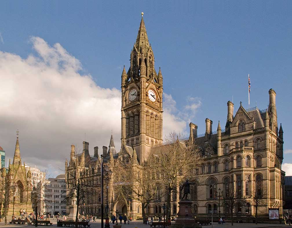 Manchester Town Hall at Albert Square, Manchester, England