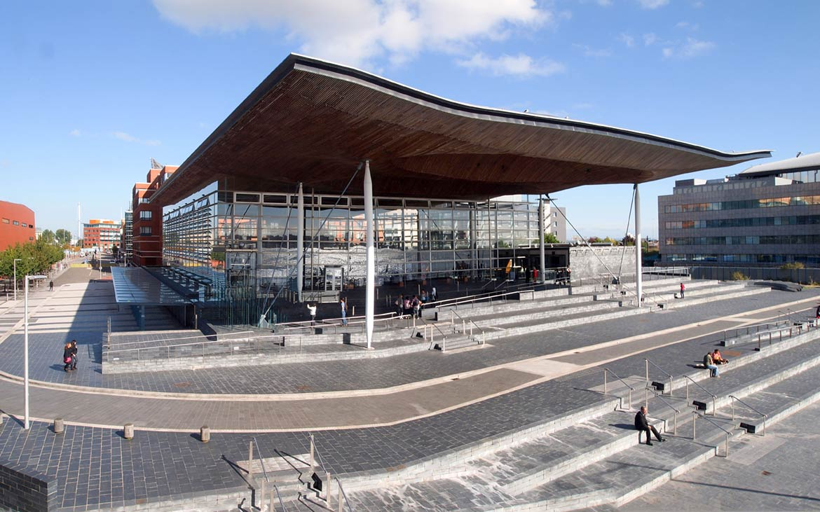 Welsh parliament building, Cardiff