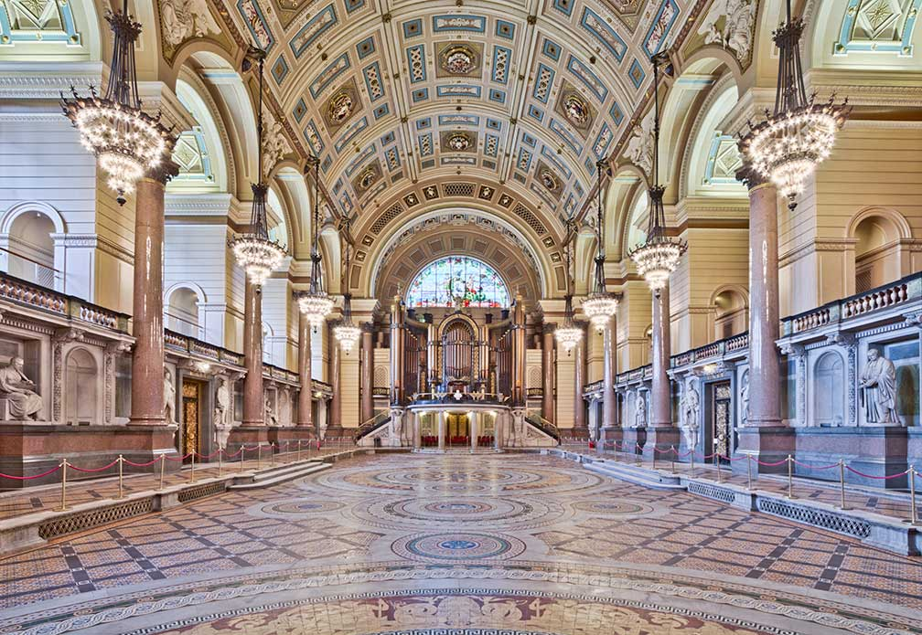 Interior of St George's Hall, Liverpool