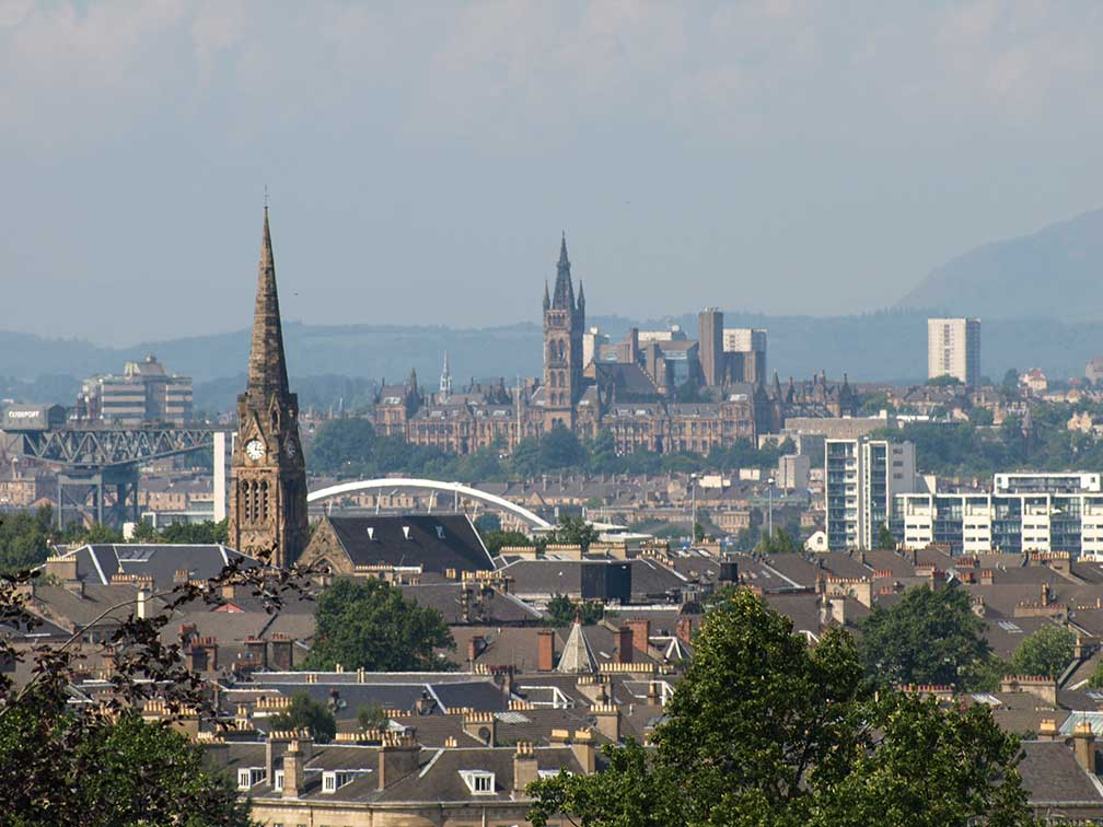 City of Glasgow, Scotland, United Kingdom, view from Queens Park