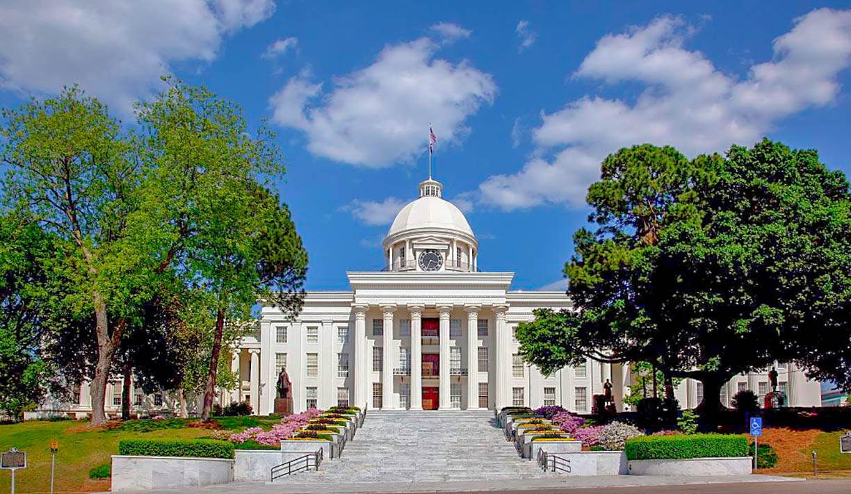 Alabama State Capitol in Montgomery, Alabama, USA