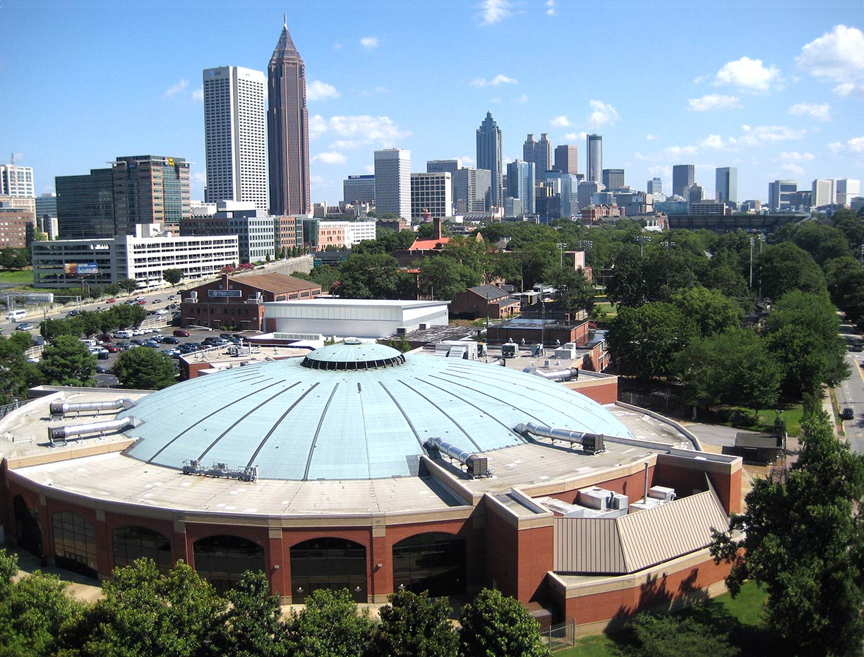 McCamish Pavilion basketball arena in Atlanta
