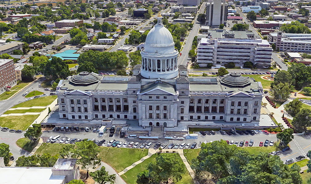 Arkansas State Capitol in Little Rock, capital city of Arkansas