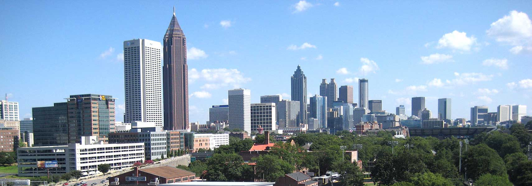 Google Map of the City of Atlanta Georgia USA  Nations Online