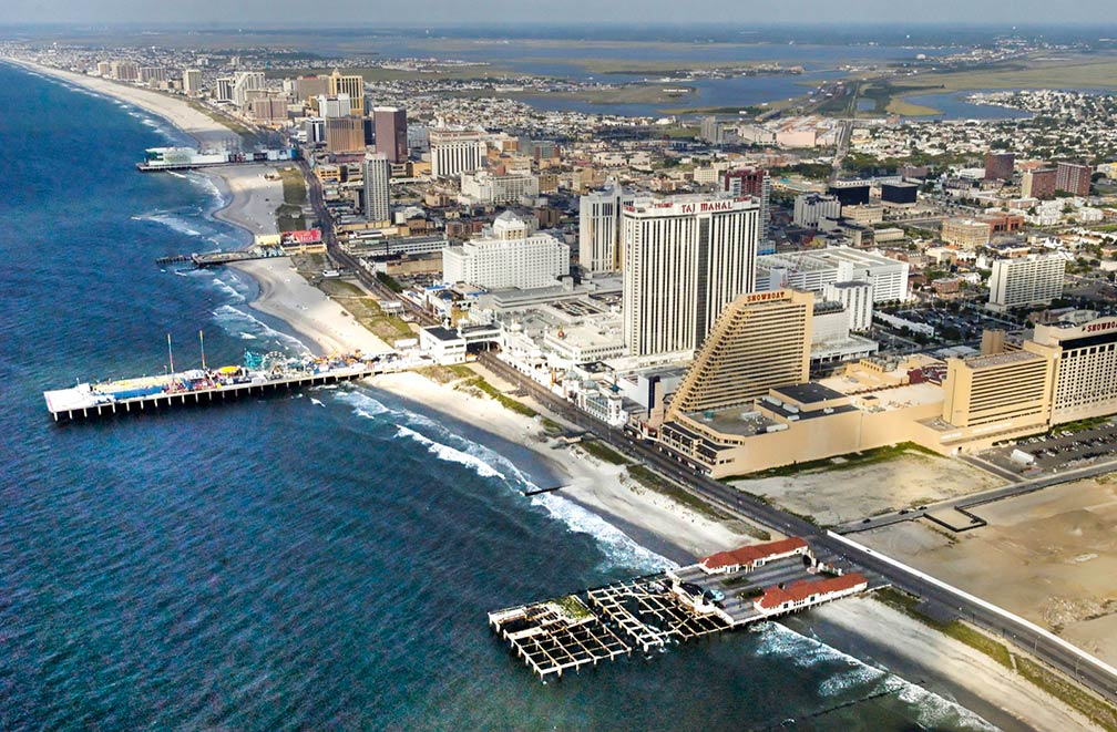 Aerial view of Atlantic City, New Jersey, USA