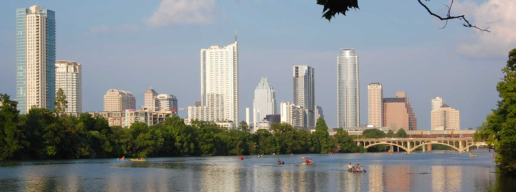 Austin skyline and Lady Bird Lake, Austin, Texas
