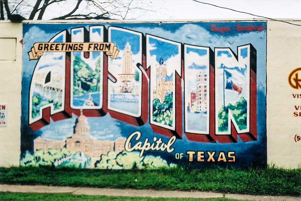 Austin Mural on First Street in South Austin