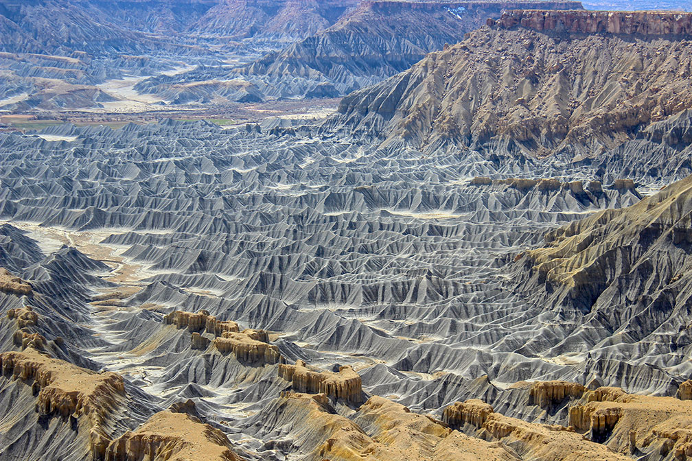 Rivers Badlands incised into shale at the