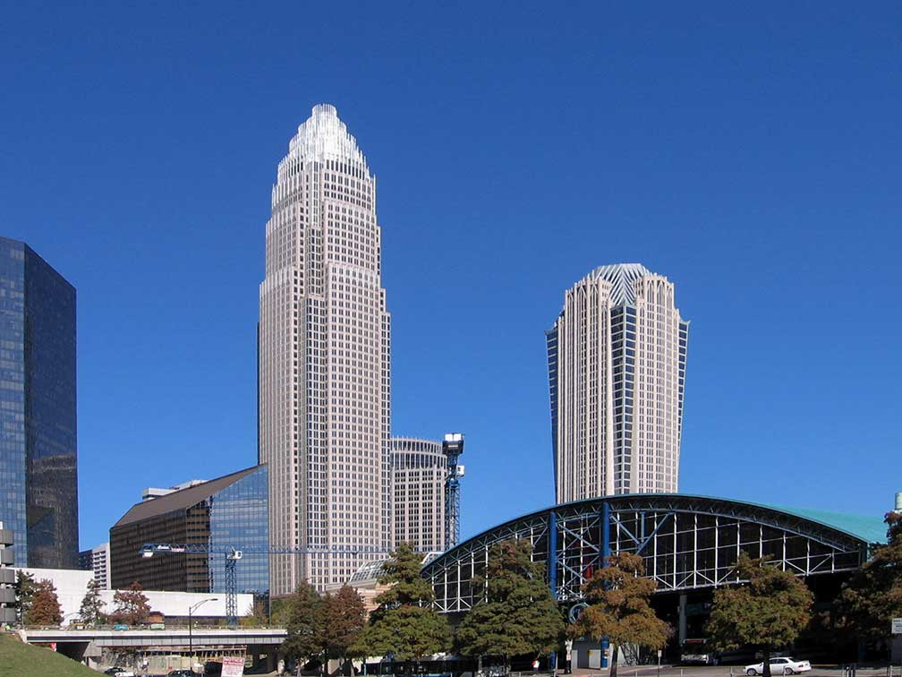 Bank of America and Hearst Tower, Charlotte, North Carolina, USA