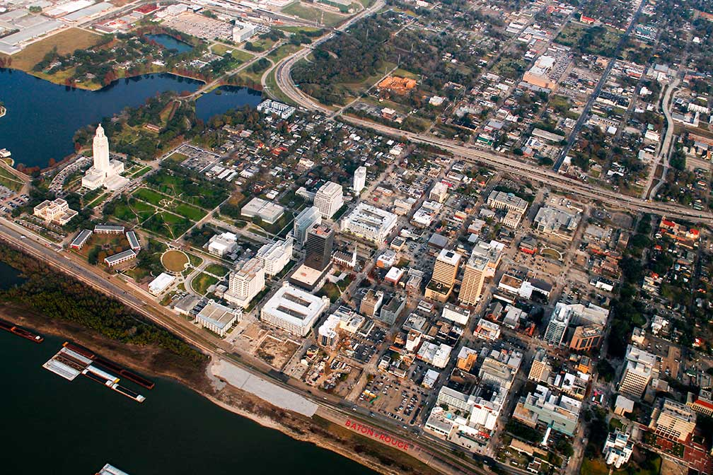 Google Map of Baton Rouge, Louisiana, USA - Nations Online Project