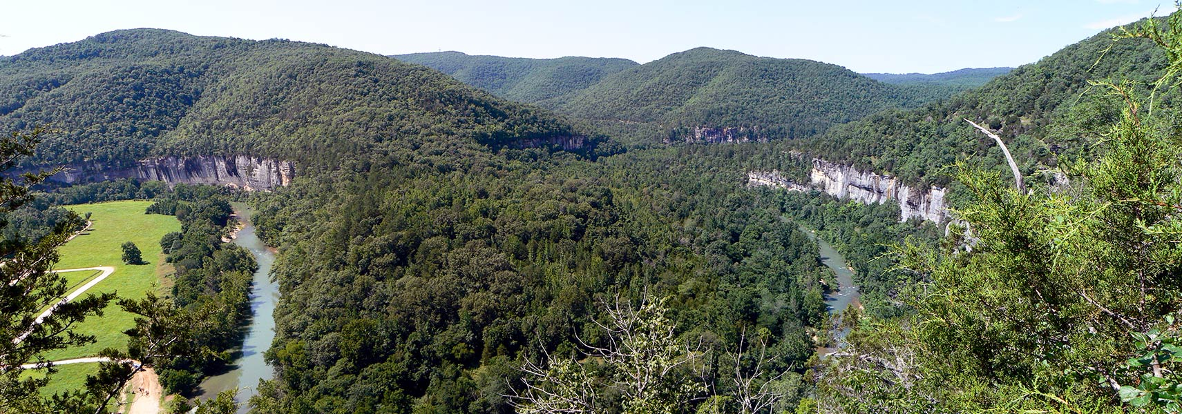 View of the Ozarks from the Buffalo National River, Arkansas