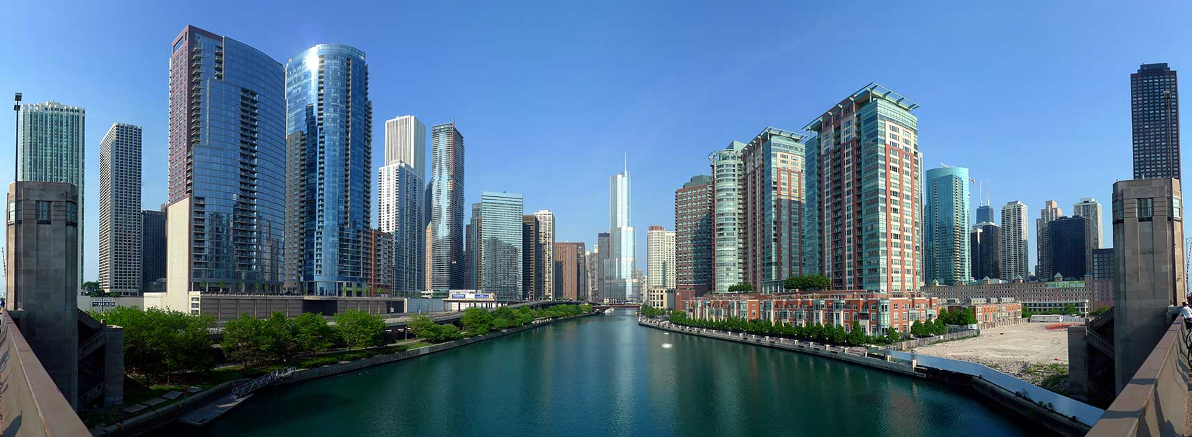 Google Map Of Chicago Illinois USA Nations Online Project - Us map chicago illinois