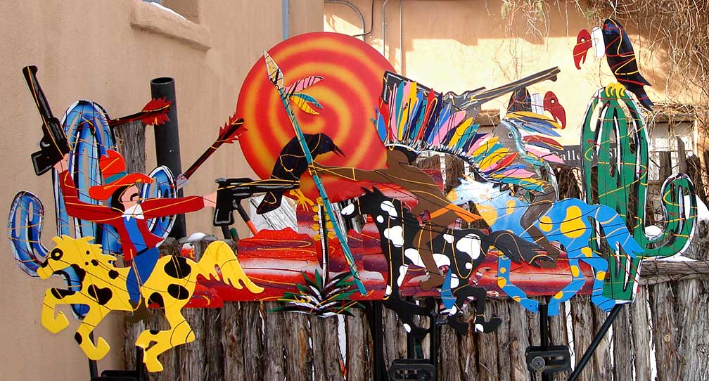 Artwork at Canyon Road, Santa Fe, New Mexico
