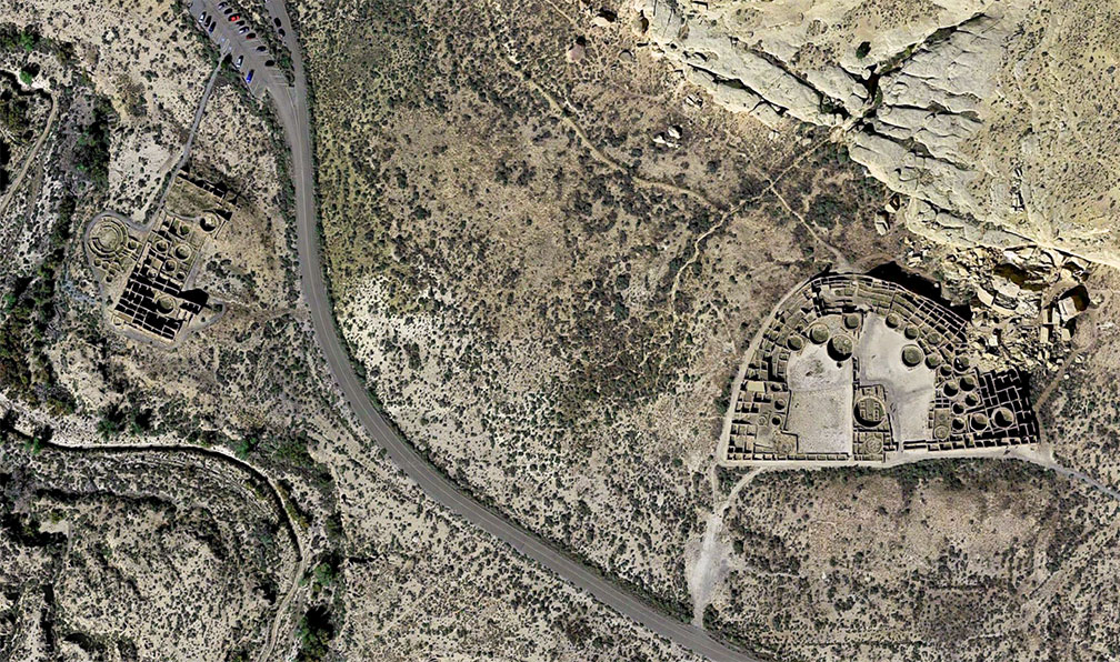 Reference maps of new mexico usa nations online project ruins of an ancient chacoan city in chaco culture national historical park in new mexico sciox Choice Image