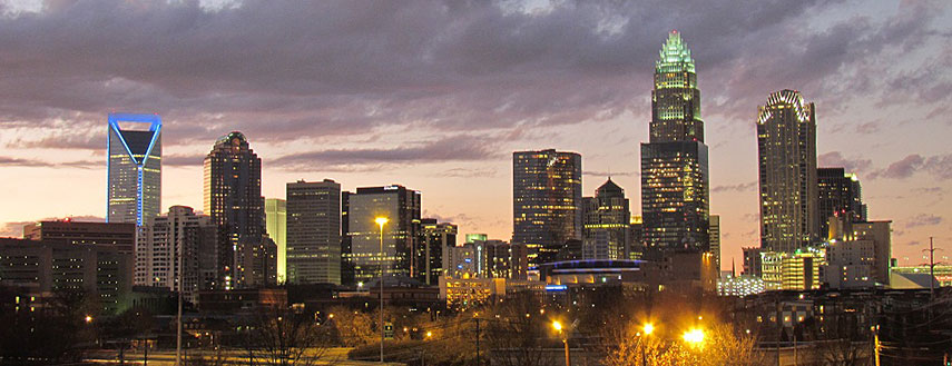 Skyline  of Charlotte, North Carolina, USA