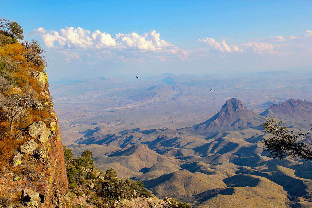 Chihuahuan Desert from South Rim Trail in Chisos Mountains of Big Bend National Park