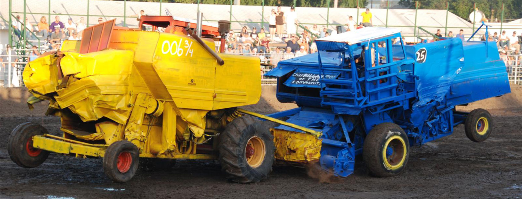 Combine Demo Derby in Abilene, Kansas