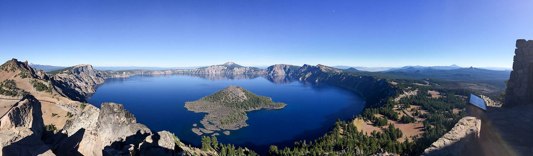 Crater Lake Oregon seen from Watchman Overlook